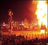 Праздник богов Дуссера в Дели
